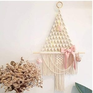 Macrame Christmas Tree Form Wall Art Hanging BOHO